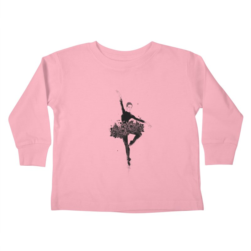 Floral dance Kids Toddler Longsleeve T-Shirt by Balazs Solti