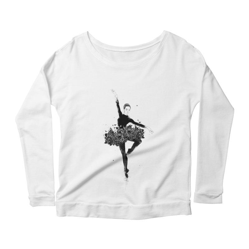 Floral dance Women's Scoop Neck Longsleeve T-Shirt by Balazs Solti