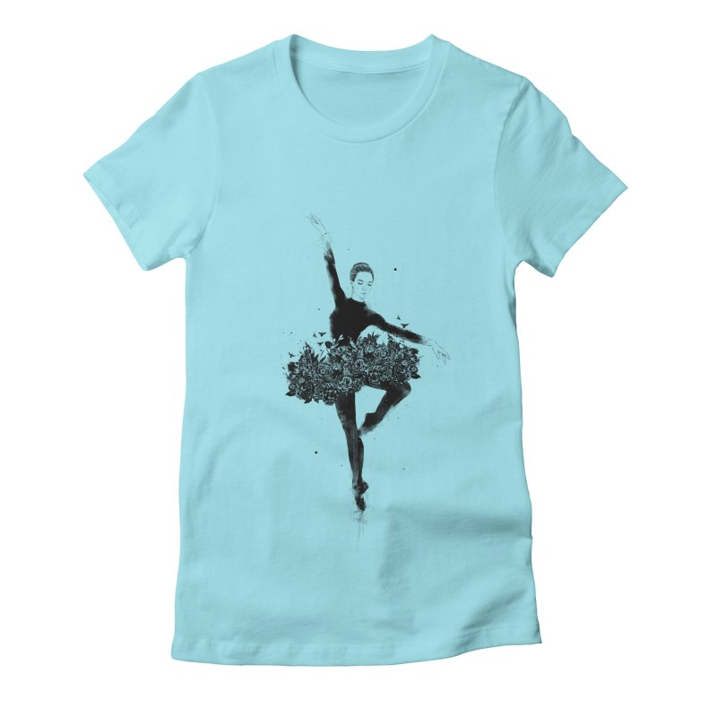 Floral dance Women's Fitted T-Shirt by Balazs Solti