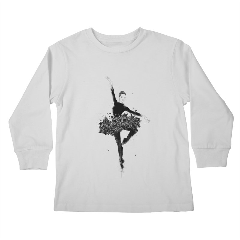 Floral dance Kids Longsleeve T-Shirt by Balazs Solti