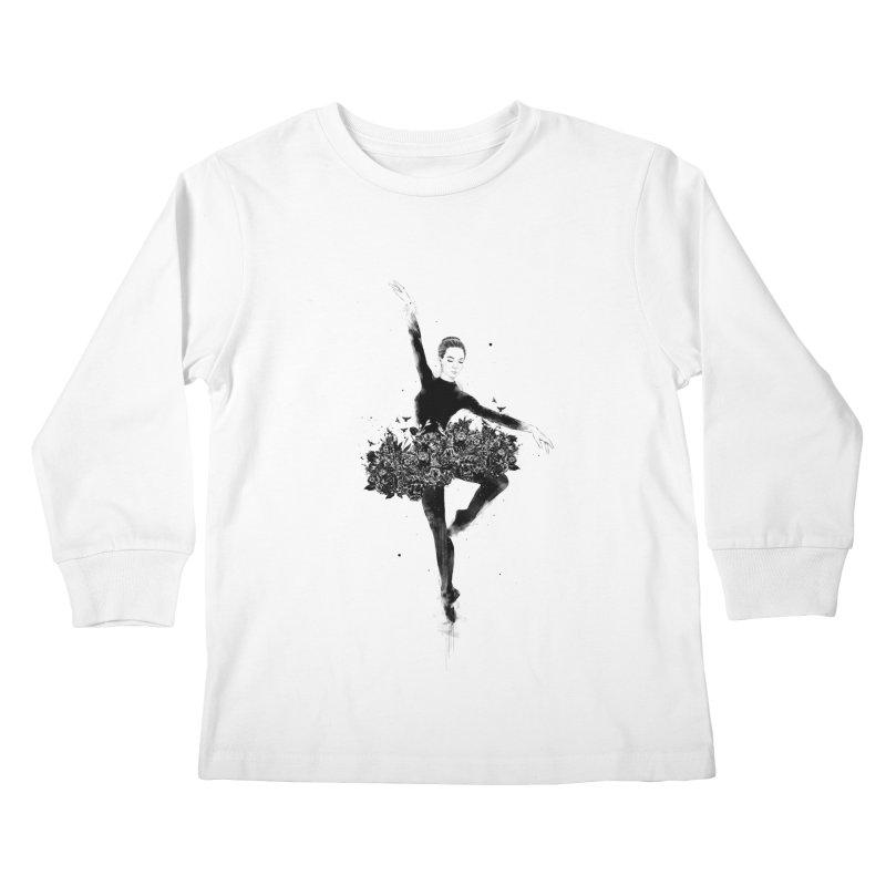 Floral dance Kids Longsleeve T-Shirt by Balazs Solti