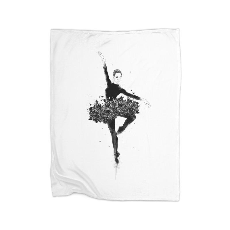 Floral dance Home Fleece Blanket Blanket by Balazs Solti