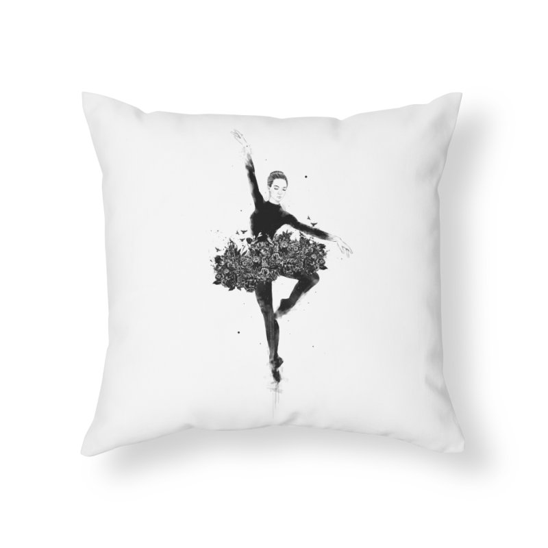 Floral dance Home Throw Pillow by Balazs Solti