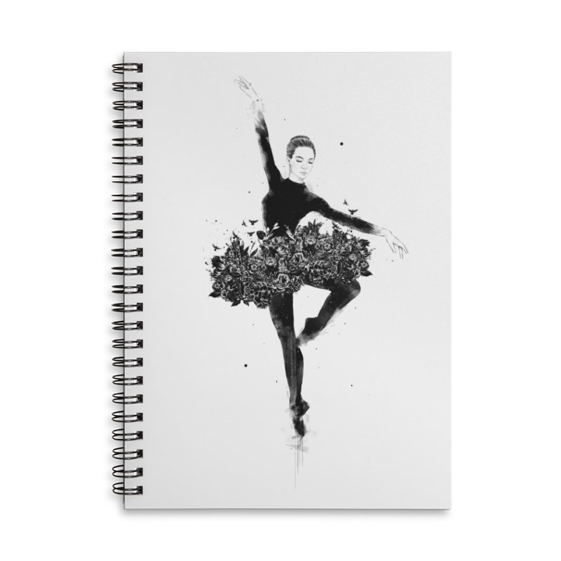 Floral dance Accessories Lined Spiral Notebook by Balazs Solti
