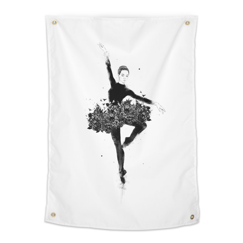 Floral dance Home Tapestry by Balazs Solti