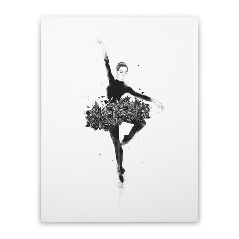 Floral dance Home Stretched Canvas by Balazs Solti