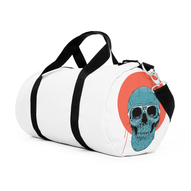 Blue skull Accessories Duffel Bag Bag by Balazs Solti