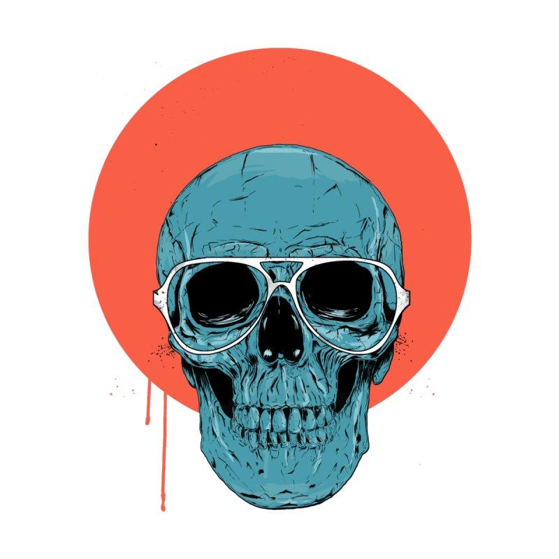 Blue skull Accessories Mug by Balazs Solti
