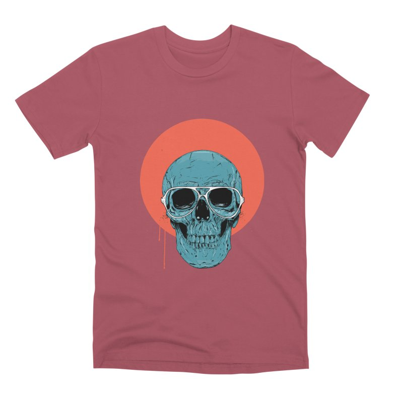 Blue skull Men's Premium T-Shirt by Balazs Solti