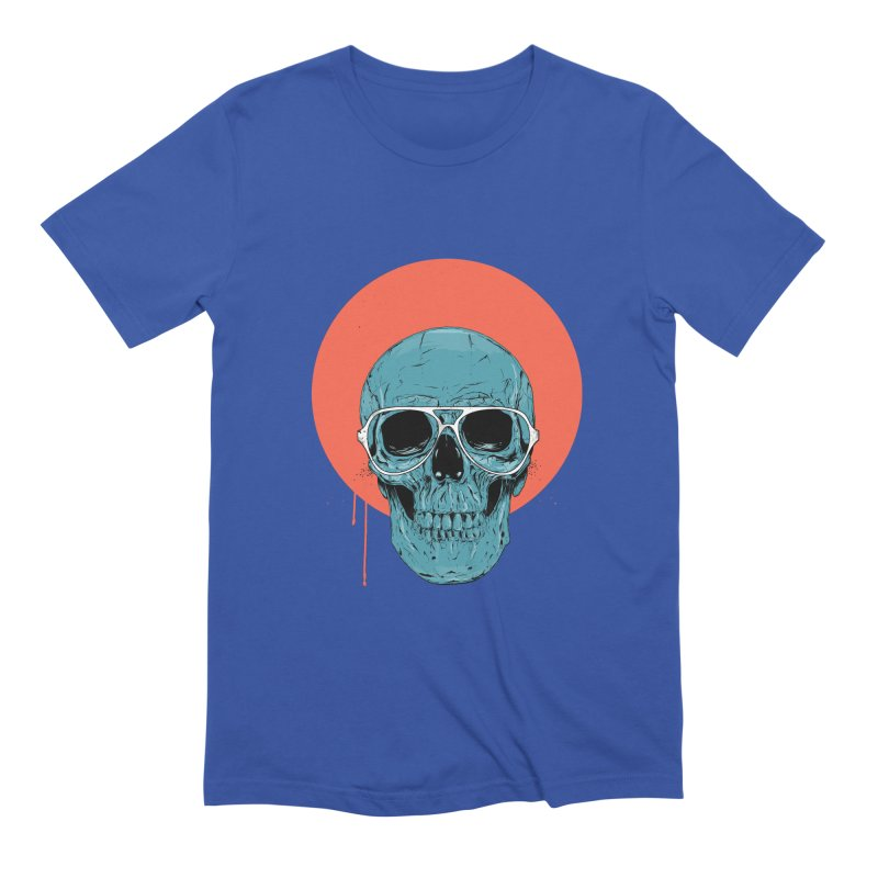 Blue skull Men's Extra Soft T-Shirt by Balazs Solti