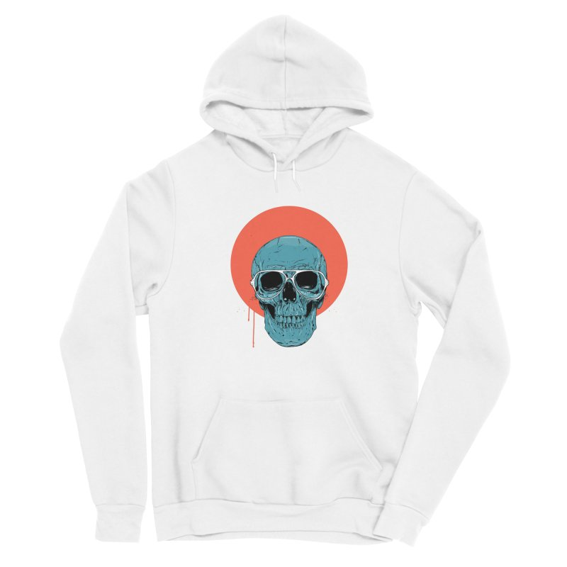 Blue skull Women's Sponge Fleece Pullover Hoody by Balazs Solti