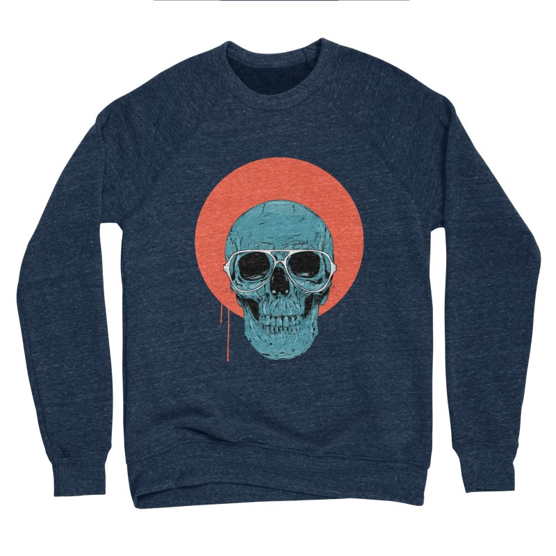 Blue skull Women's Sponge Fleece Sweatshirt by Balazs Solti