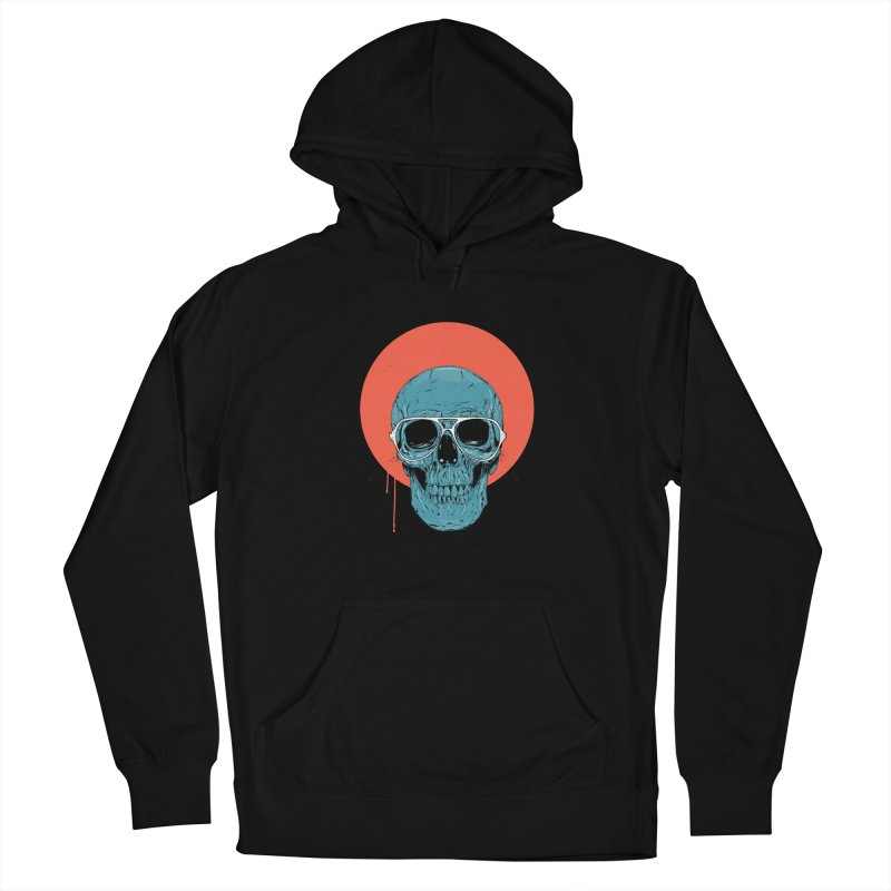 Blue skull Women's French Terry Pullover Hoody by Balazs Solti