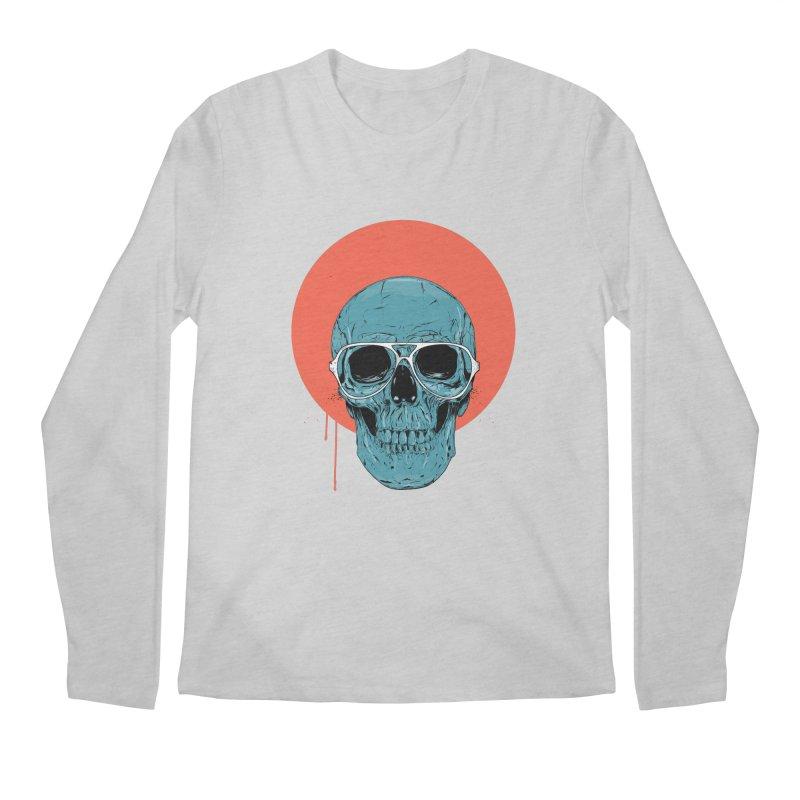 Blue skull Men's Regular Longsleeve T-Shirt by Balazs Solti