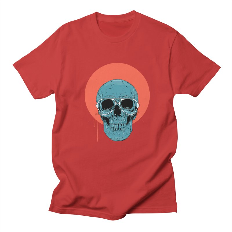 Blue skull Women's Regular Unisex T-Shirt by Balazs Solti