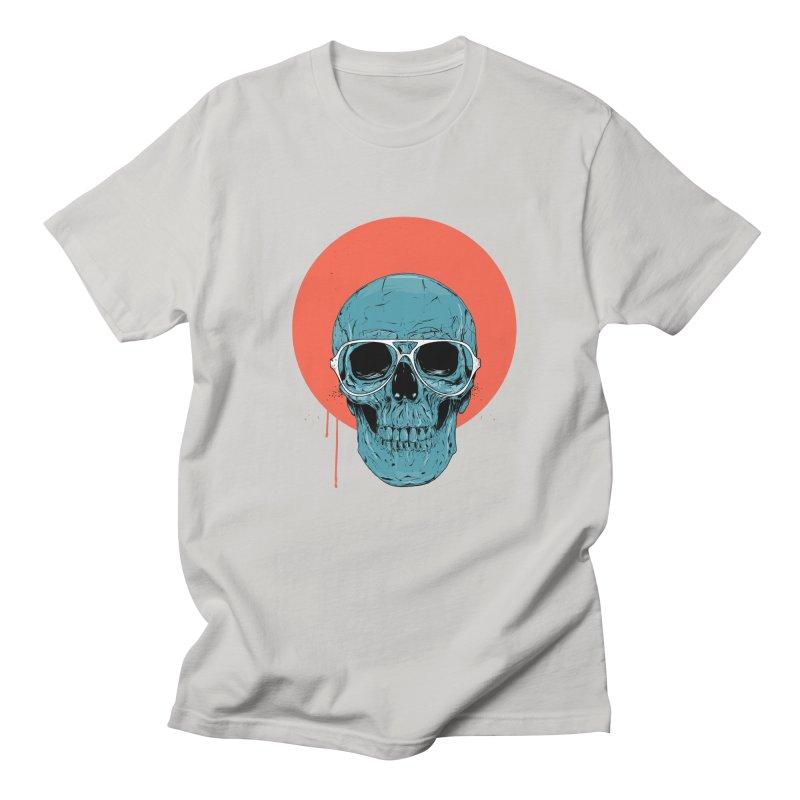 Blue skull Men's Regular T-Shirt by Balazs Solti
