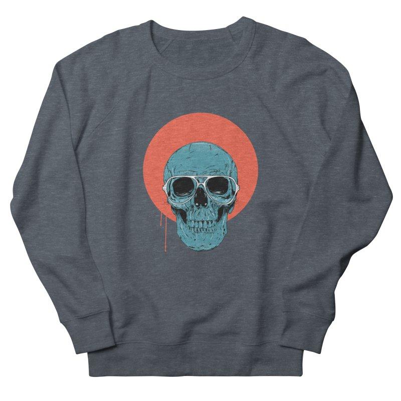 Blue skull Women's French Terry Sweatshirt by Balazs Solti