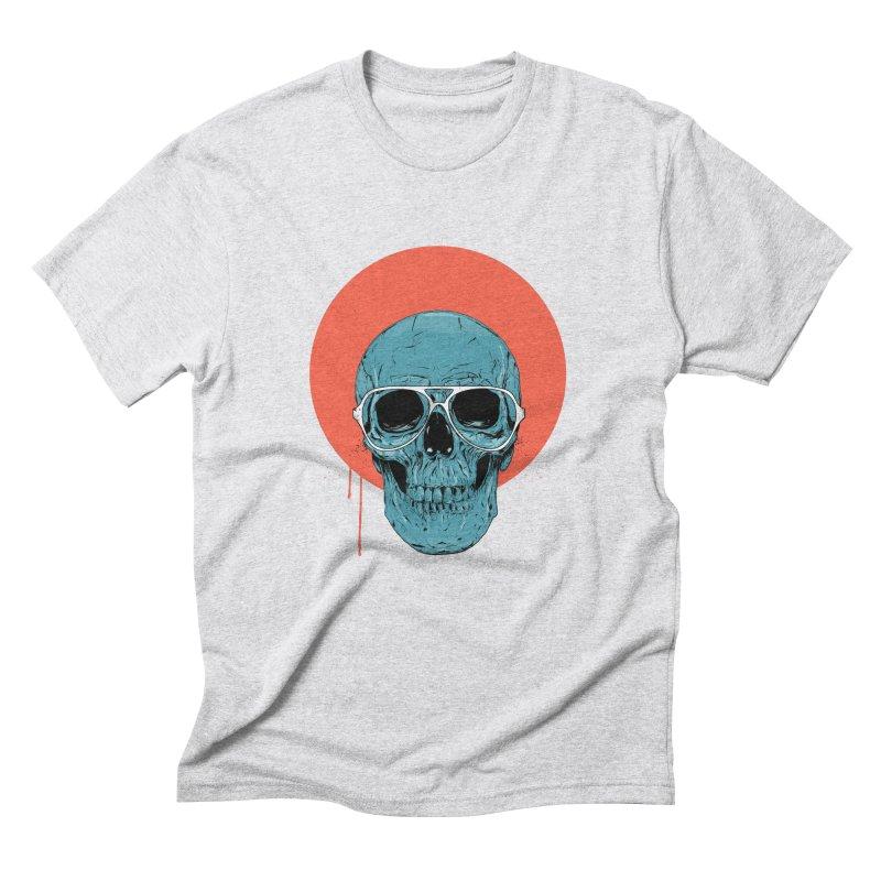 Blue skull Men's Triblend T-Shirt by Balazs Solti