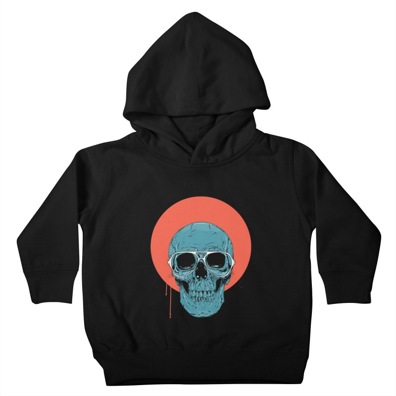 Blue skull Kids Toddler Pullover Hoody by Balazs Solti