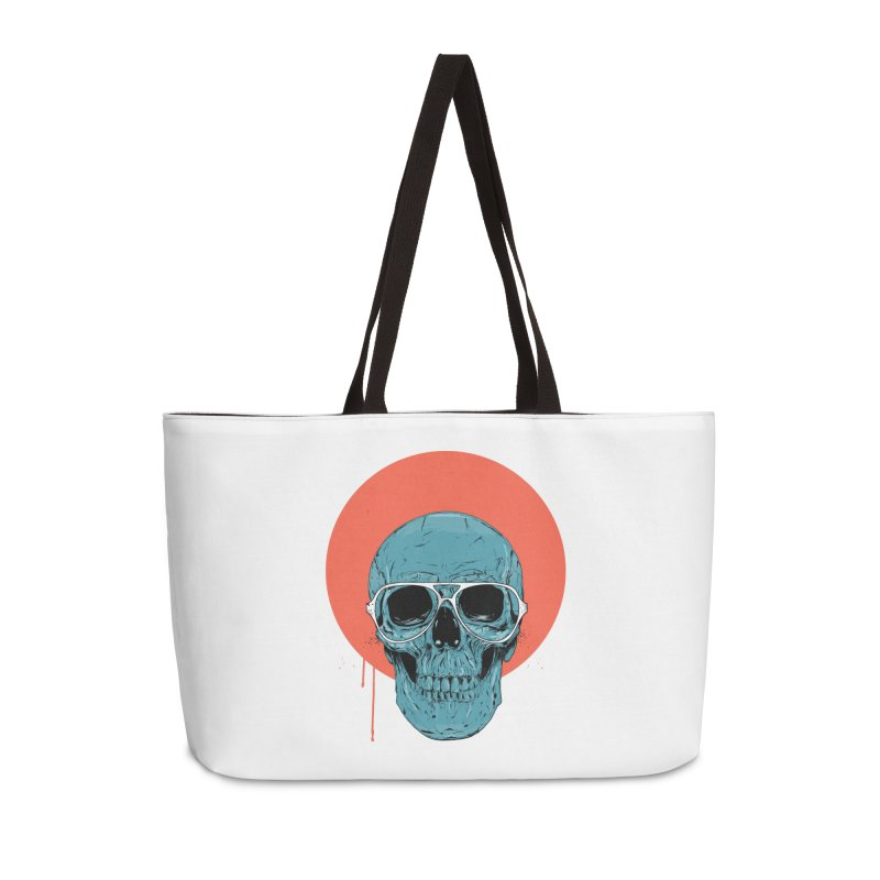 Blue skull Accessories Weekender Bag Bag by Balazs Solti