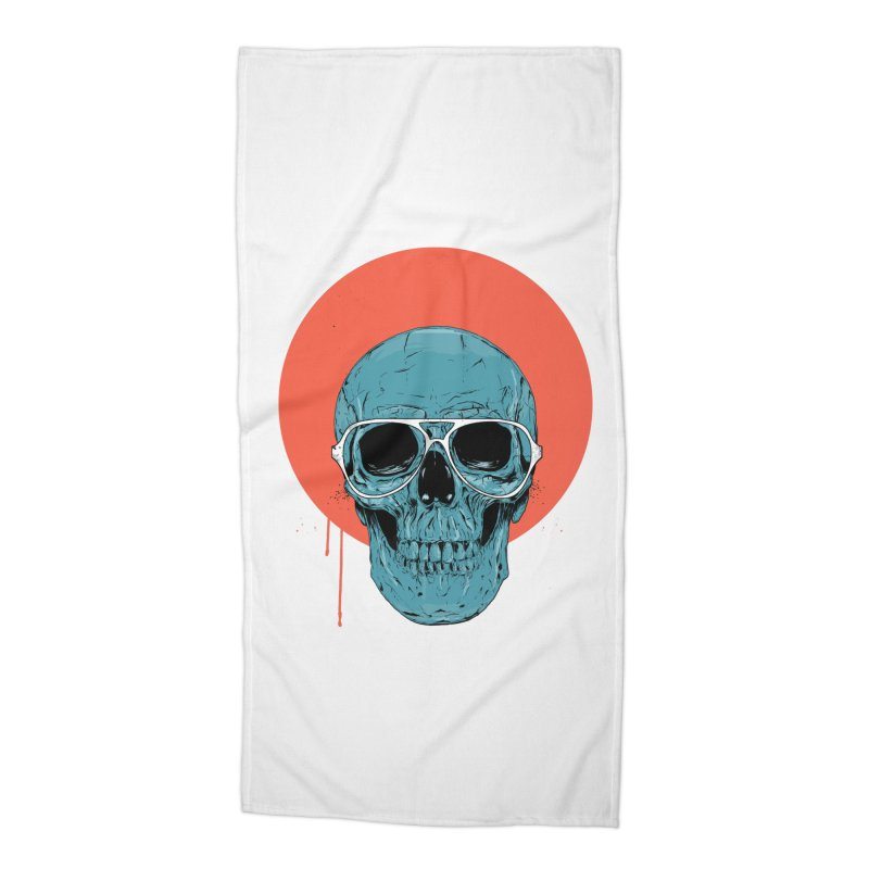 Blue skull Accessories Beach Towel by Balazs Solti