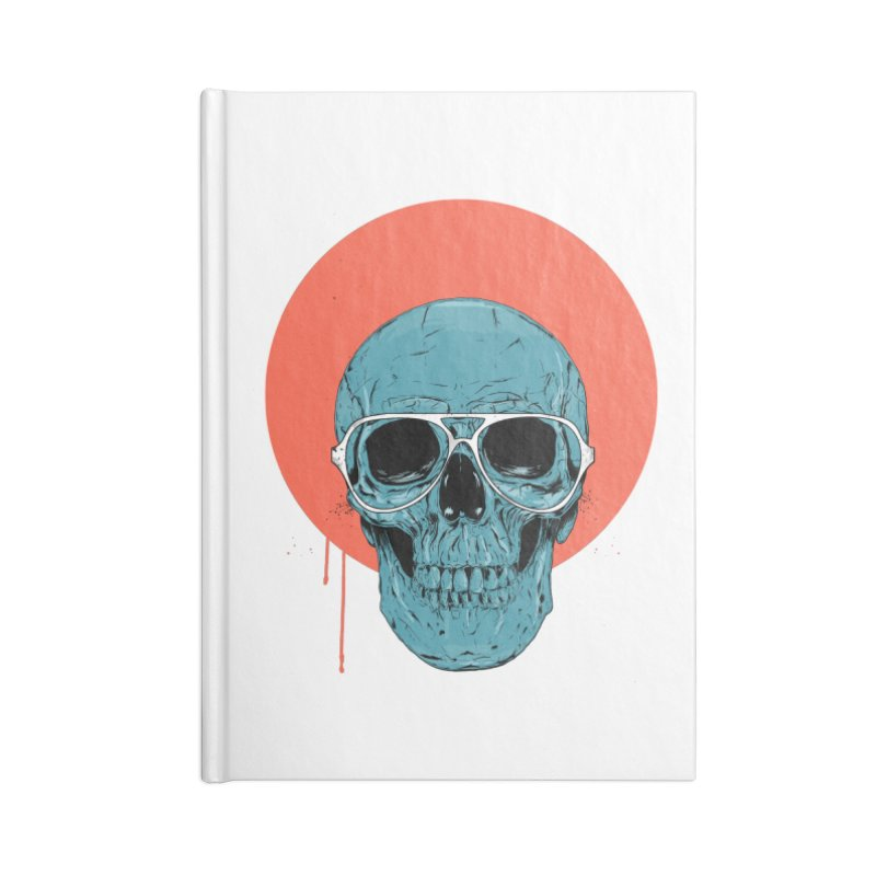 Blue skull Accessories Lined Journal Notebook by Balazs Solti
