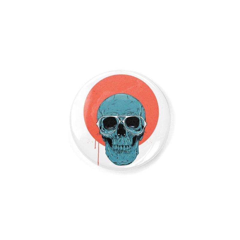 Blue skull Accessories Button by Balazs Solti