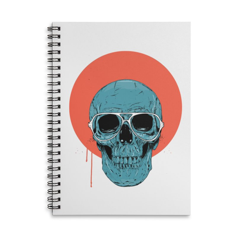 Blue skull Accessories Lined Spiral Notebook by Balazs Solti