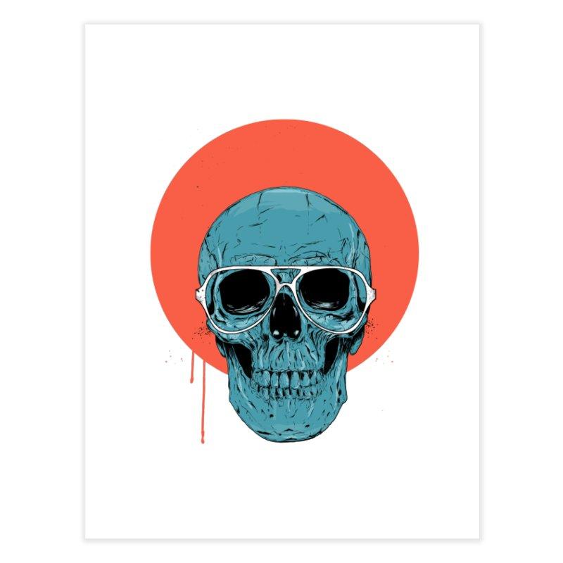 Blue skull Home Fine Art Print by Balazs Solti