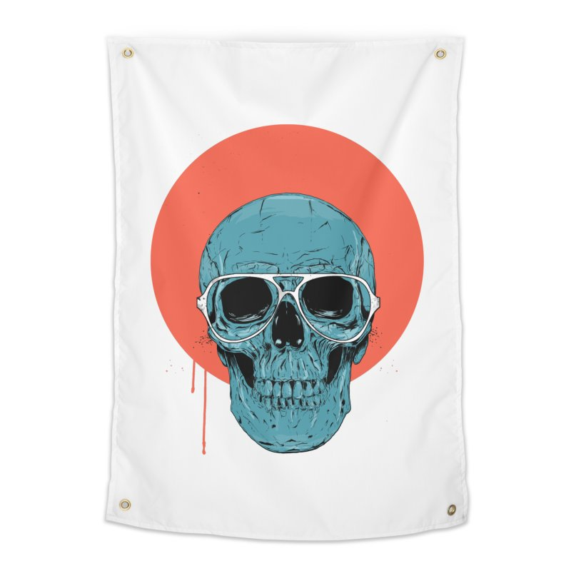 Blue skull Home Tapestry by Balazs Solti
