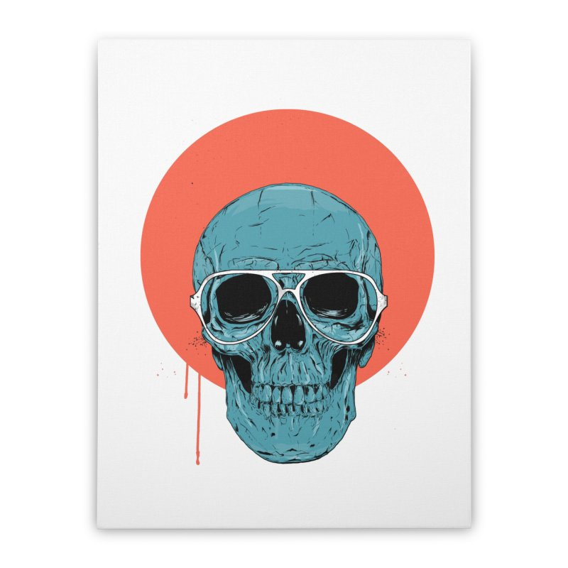 Blue skull Home Stretched Canvas by Balazs Solti