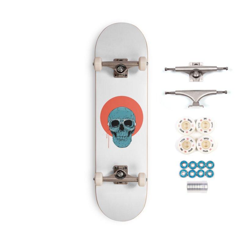 Blue skull Accessories Complete - Premium Skateboard by Balazs Solti