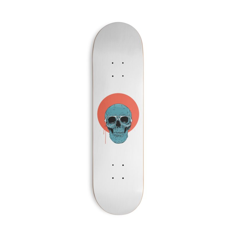 Blue skull Accessories Deck Only Skateboard by Balazs Solti