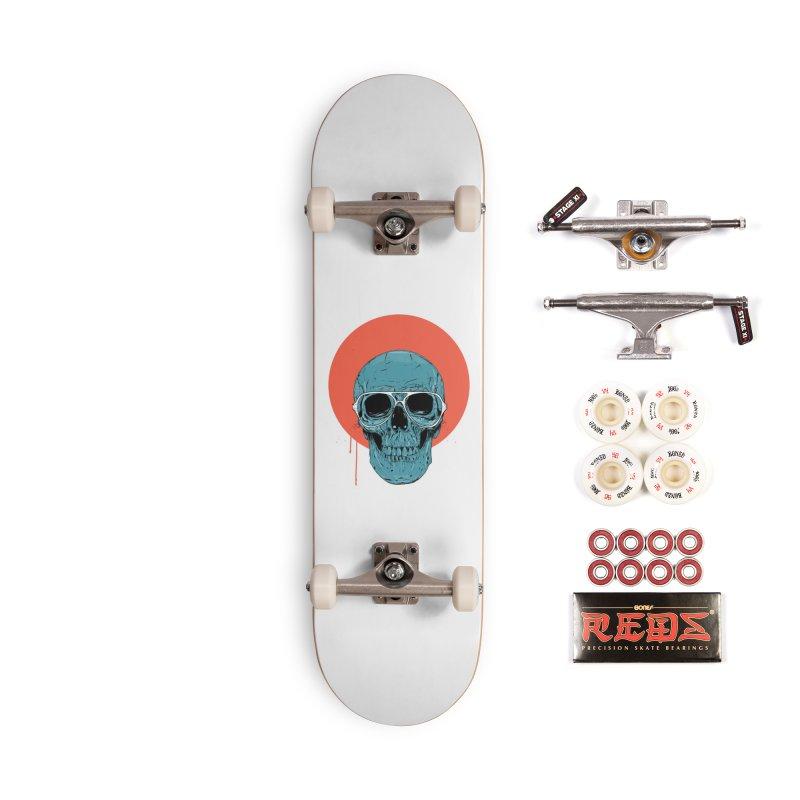 Blue skull Accessories Complete - Pro Skateboard by Balazs Solti
