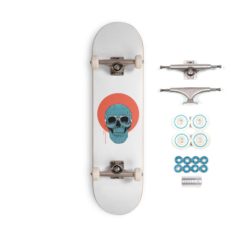 Blue skull Accessories Complete - Basic Skateboard by Balazs Solti