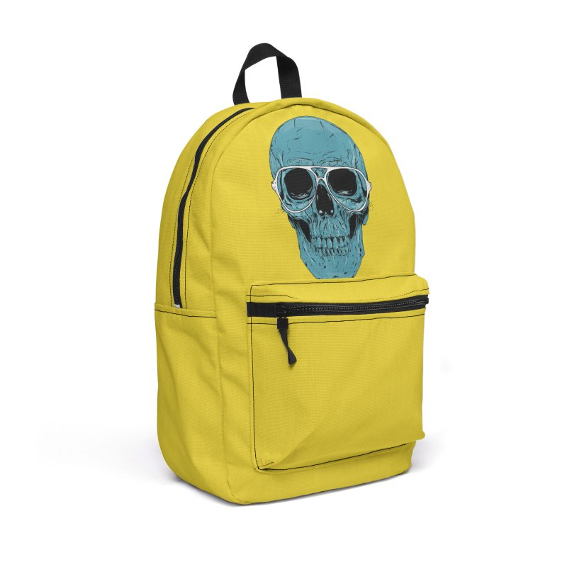 Blue skull II Accessories Backpack Bag by Balazs Solti