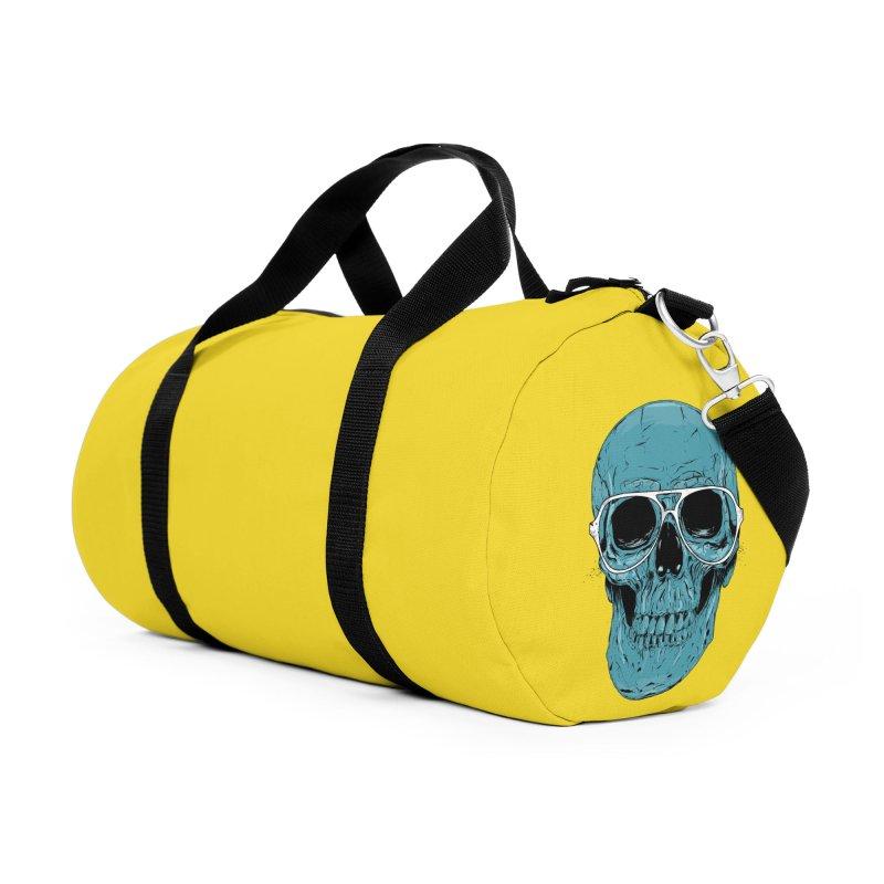 Blue skull II Accessories Duffel Bag Bag by Balazs Solti