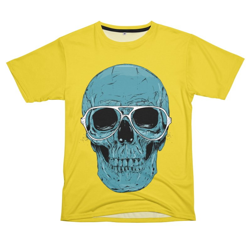 Blue skull II Men's T-Shirt Cut & Sew by Balazs Solti