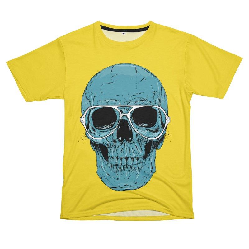 Blue skull II Women's Unisex T-Shirt Cut & Sew by Balazs Solti