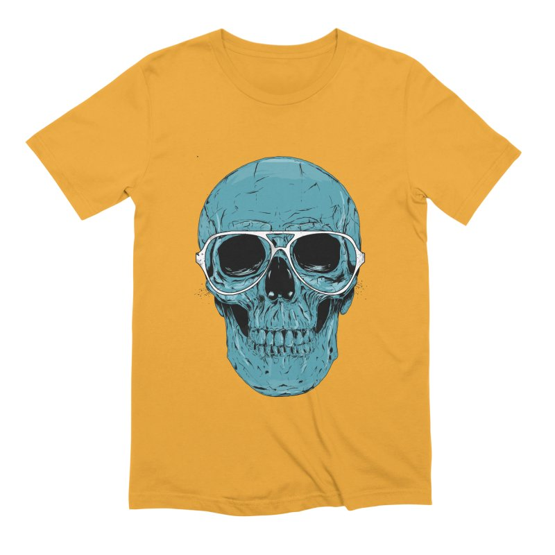 Blue skull II Men's Extra Soft T-Shirt by Balazs Solti