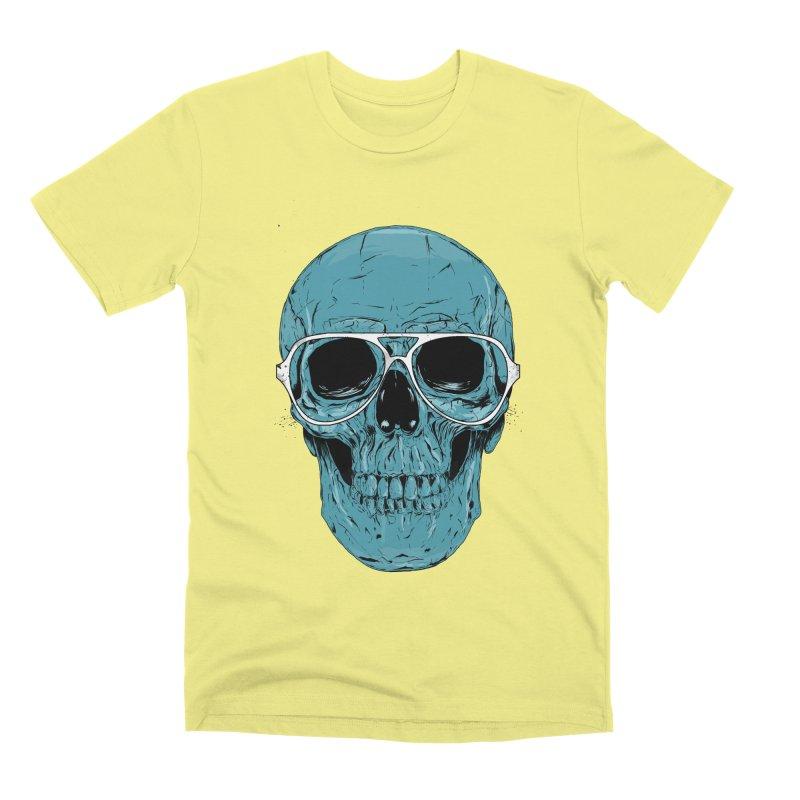 Blue skull II Men's Premium T-Shirt by Balazs Solti