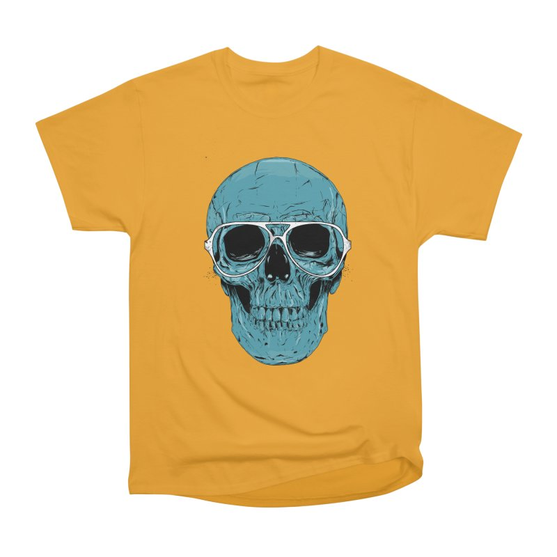 Blue skull II Women's Heavyweight Unisex T-Shirt by Balazs Solti