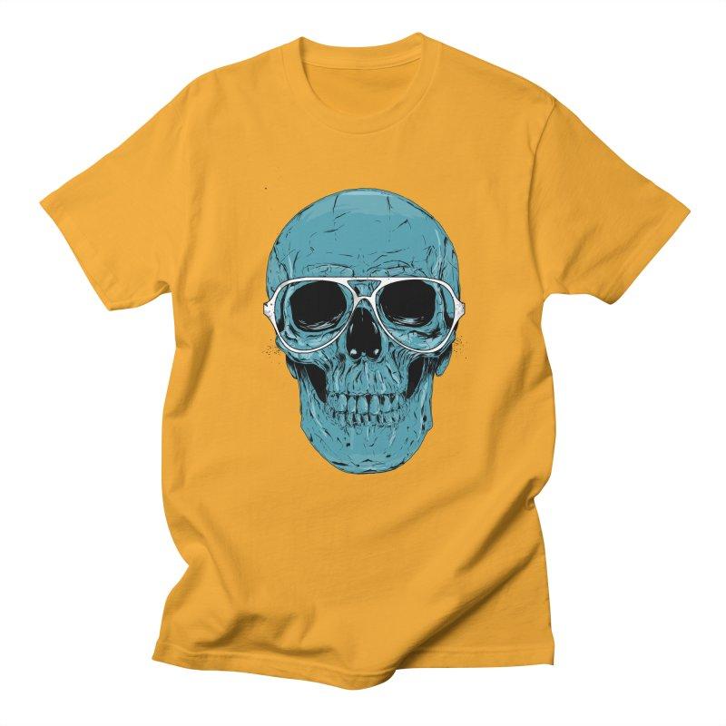 Blue skull II Men's Regular T-Shirt by Balazs Solti