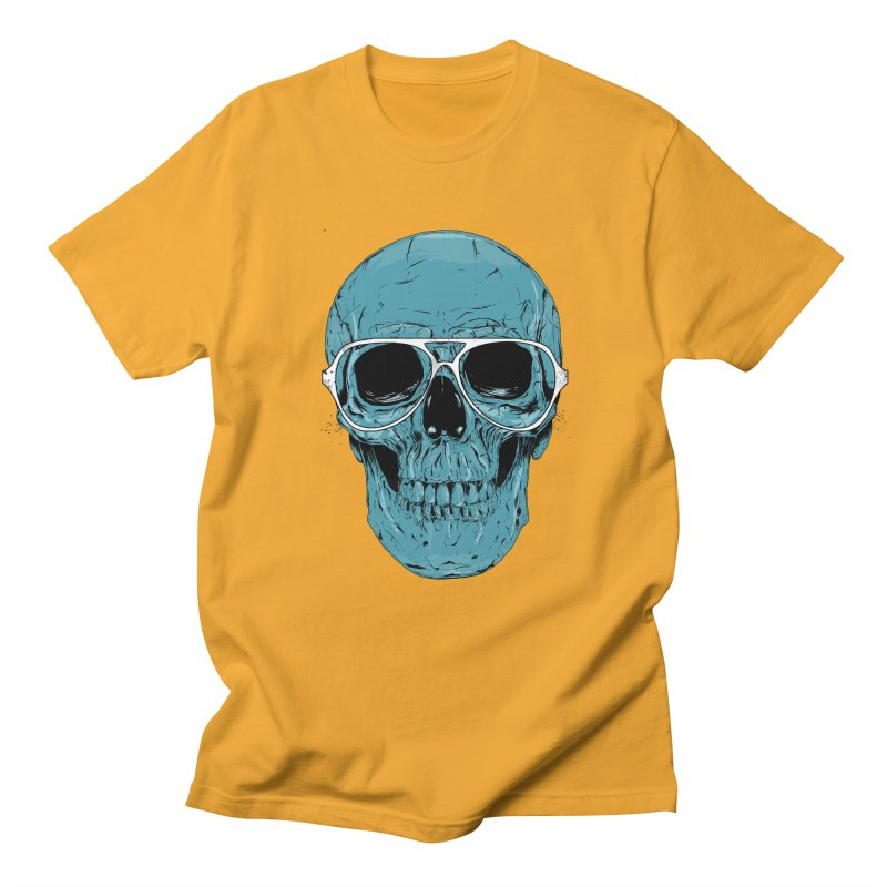 Blue skull II Women's Regular Unisex T-Shirt by Balazs Solti