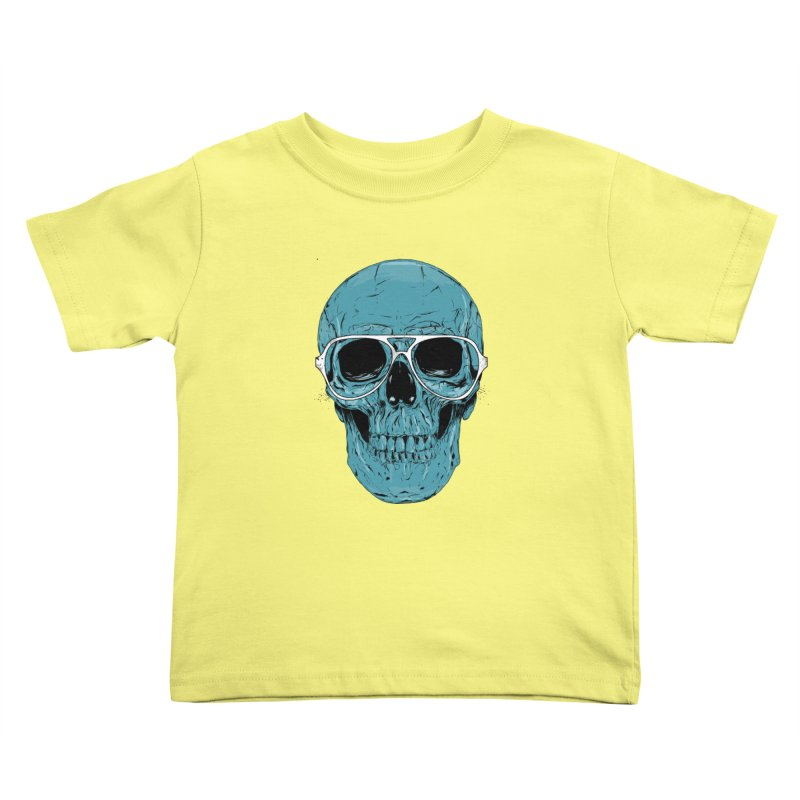 Blue skull II Kids Toddler T-Shirt by Balazs Solti