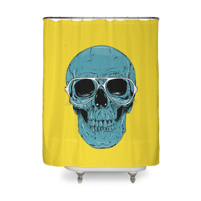 Blue skull II Home Shower Curtain by Balazs Solti