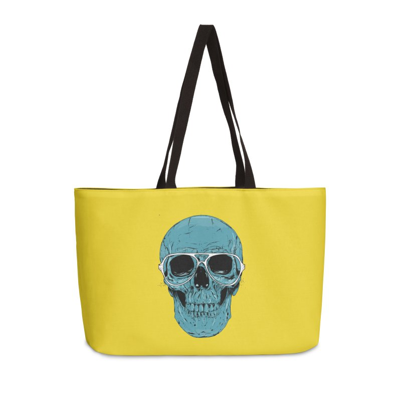 Blue skull II Accessories Weekender Bag Bag by Balazs Solti