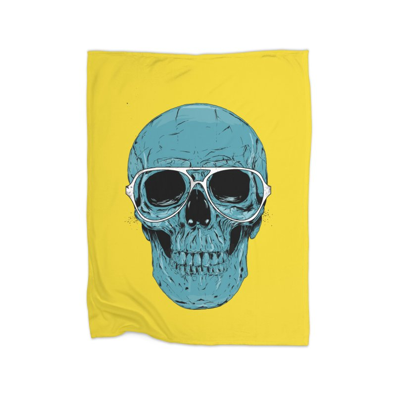 Blue skull II Home Fleece Blanket Blanket by Balazs Solti