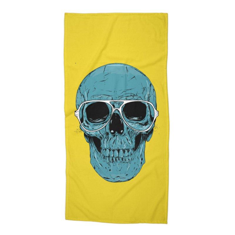 Blue skull II Accessories Beach Towel by Balazs Solti