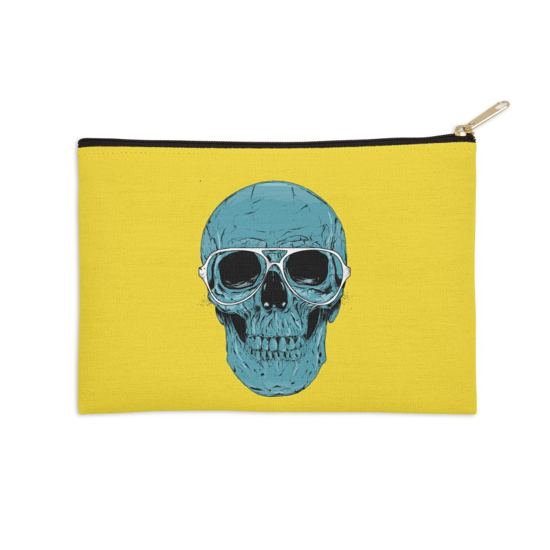 Blue skull II Accessories Zip Pouch by Balazs Solti